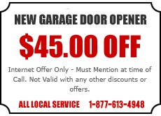 New Garage Door Opener Offer